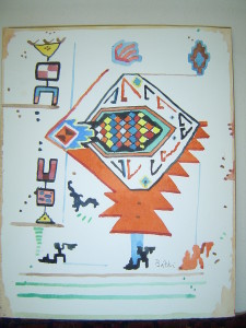 John Batki - Kilimology - For Max Watercolor, paper 9 x 12 inches