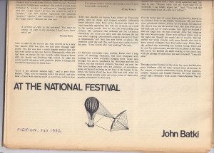 John Batki - Stories - At the National Festival